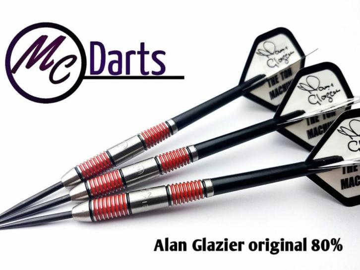 Alan Glazier 80% tungsten darts 21t/m26 grams