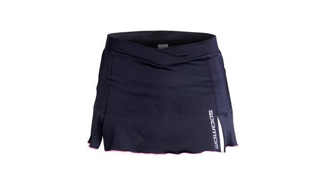 Korte Dames Fietsrok Type: Shell II (Woman Skirt) Zwart / Ro