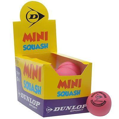Dunlop Pink Mini Squash 12 Ball Box Roze 1 Maat