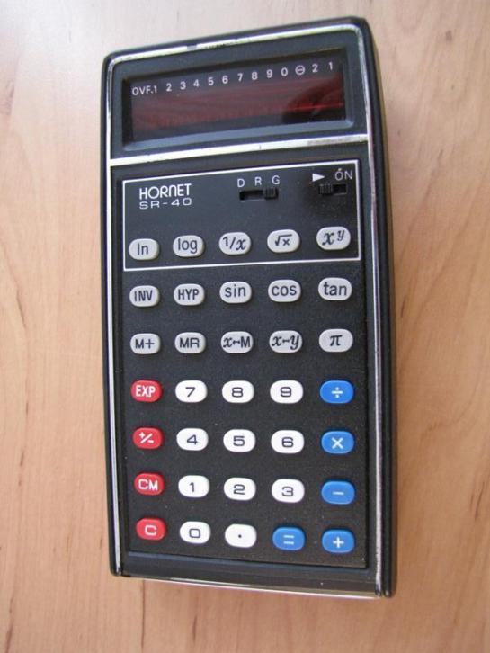 7598| oude calculator vintage Hornet SR-40 €15