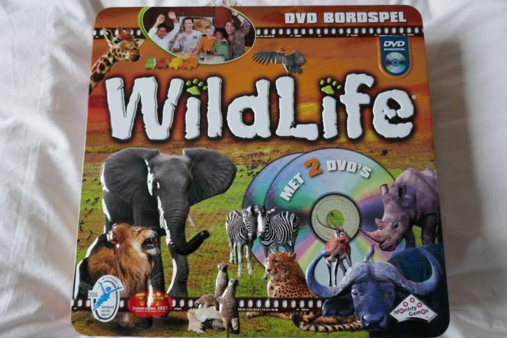 Leerzaam en spannend bordspel WILDLIFE incl.DVD's