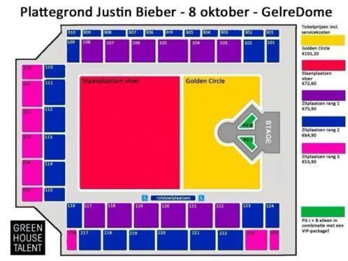 2 top platinum tickets Justin bieber gelredome!