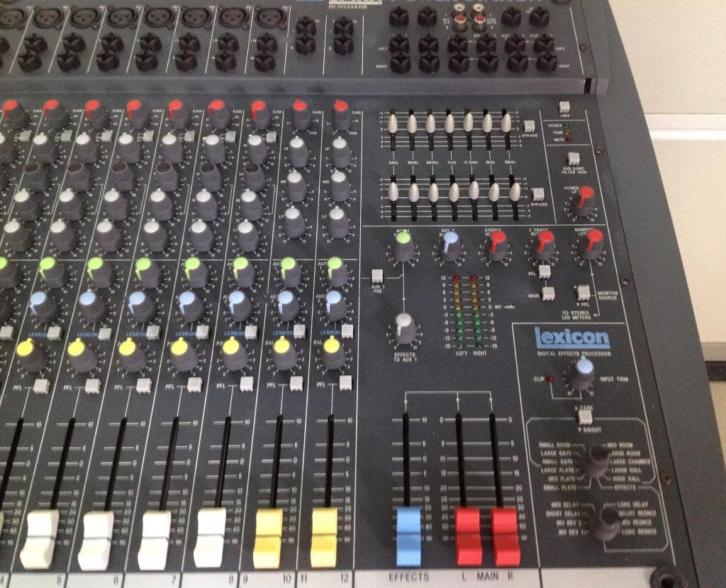 Mengpaneel Soundcraft boxen RCF