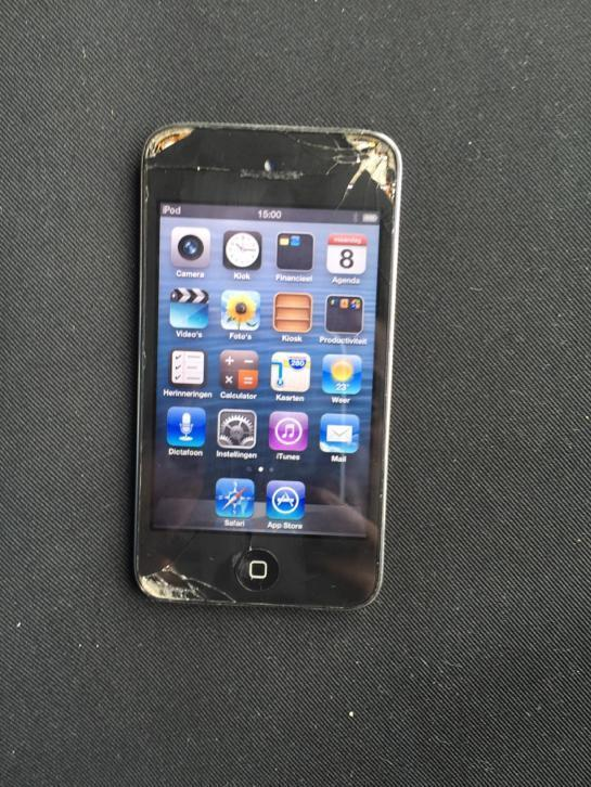 iPod touch 4 barst in display