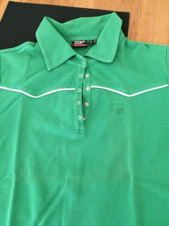 Esprit sports groen polo shirt maat m