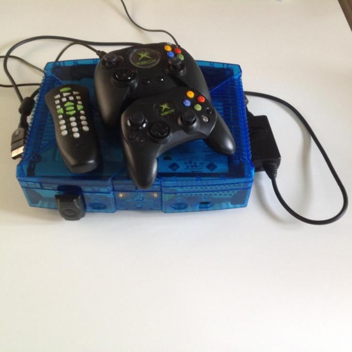 Xbox blue limited edition - compleet