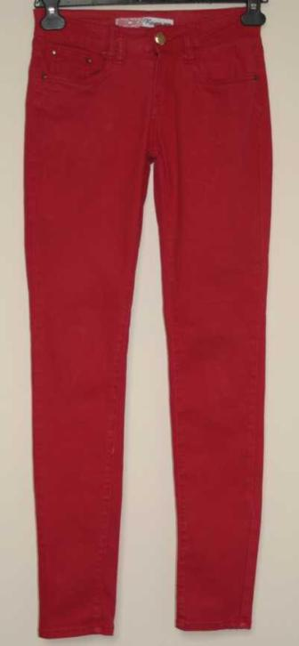 Revers Jeans geweldige rode stretchy skinny mt. 36