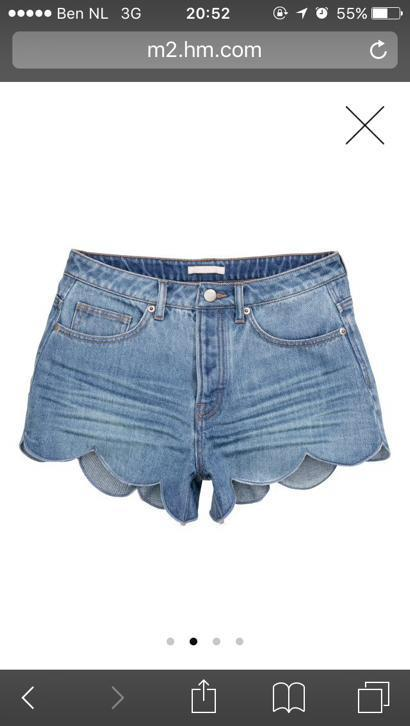 Gezocht! Denim short jeans H&M maat 38 of 40