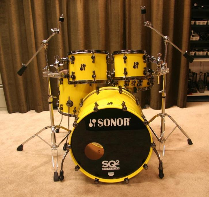drumstel: Sonor SQ2 22/10/12/14/14sn