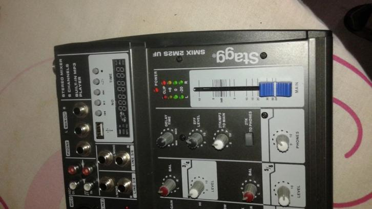 Stagg mixer (multi channel stereo mixer)