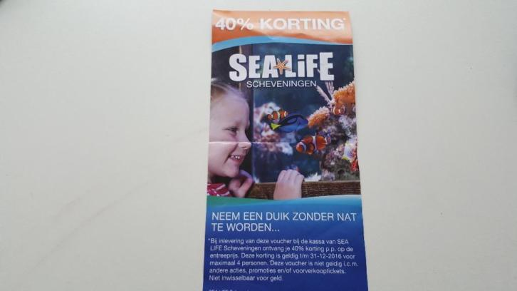 40% Korting 4 pers. Madama tussauds of Sea life scheveningen
