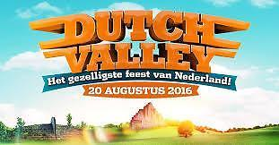 4 tickets Dutch Valley 20 augustus 2016