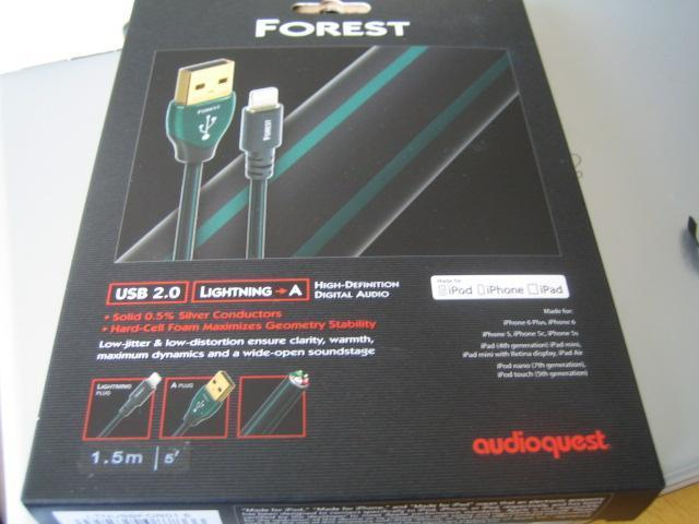audioquest forest usb 2.0 lightning A