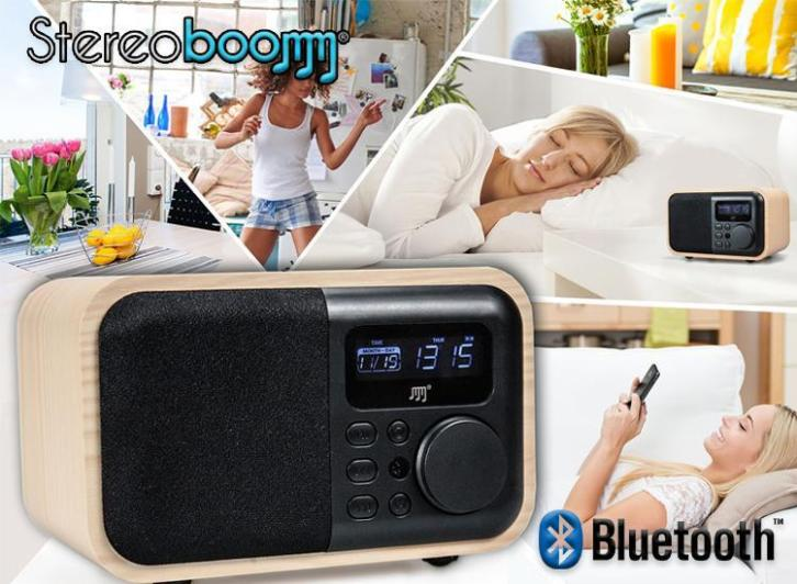 €39,95 ipv €79,95 - Stereoboomm Wood-box Bluetooth Speaker e
