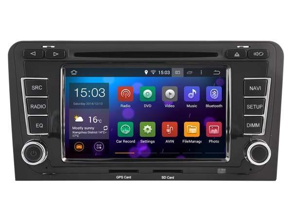 Radio navigatie audi a3 a4 dvd carkit android 5.1.1 wifi usb