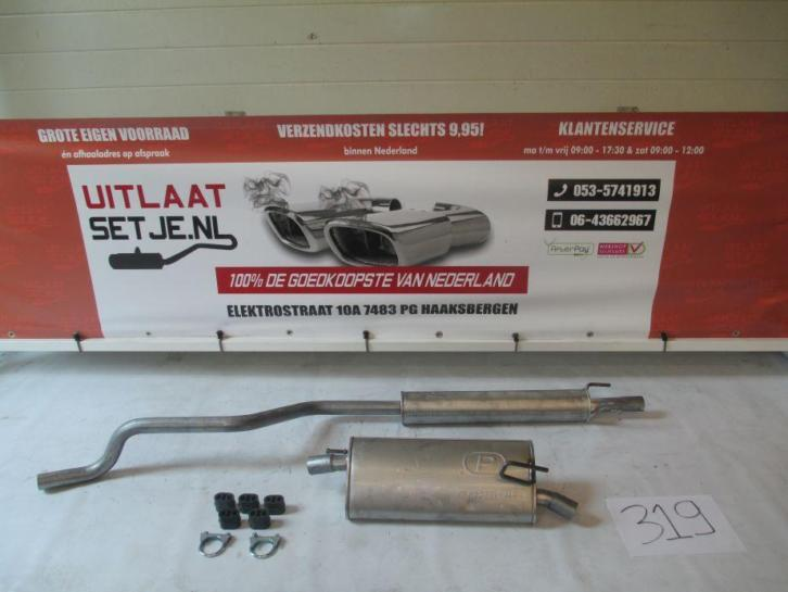 Complete Uitlaat Opel Meriva A 1.6 16V incl. Montageset