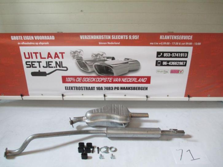 Complete Uitlaat Opel Astra G 1.4 16V 1.6 8V Incl.Montageset