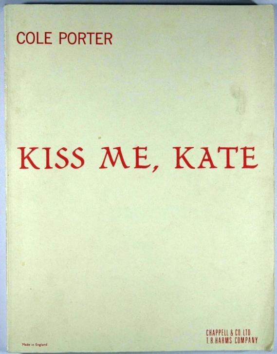 musical: Kiss me, Kate - Cole Porter [ piano / keyboard ]