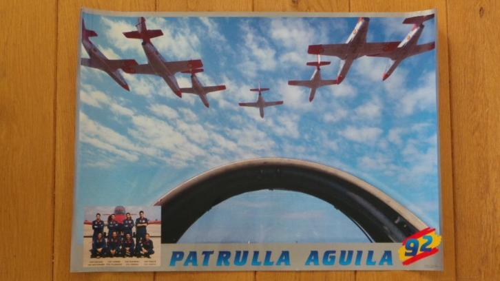 Poster Stuntteam Partulla Aguila Spaanse Luchtmacht