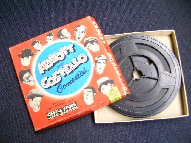 Laurel & hardy super 8 film in doos abbot and costello (