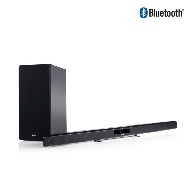 Ultra slanke speakerbar + draadloze subwoofer - Teufel
