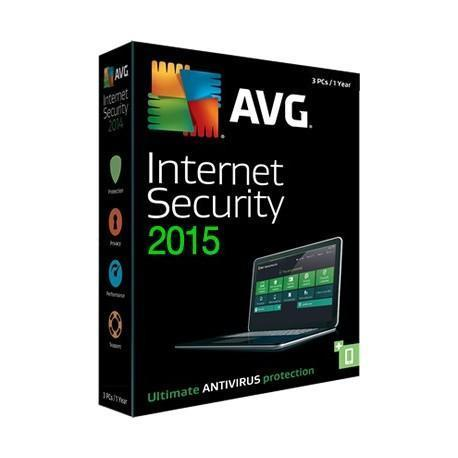 AVG Internet Security 2015 7 computers (3 years)