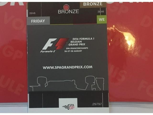 Online veiling w.o: Tickets F1 Spa-Francorchamps (22769)