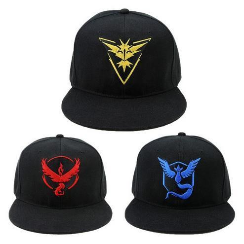 Pokemon Go Team Valor Mystic Instinct Cap Pet Snapback