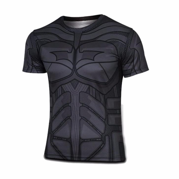 Batman T-Shirt - Kostuum Casual Top Shirt Super Hero