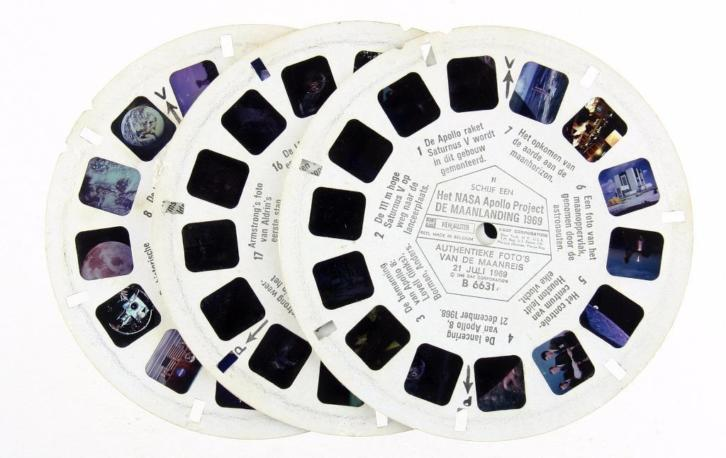 3 st Viewmaster Nasa Apollo Maanlanding 1969 (Historisch)