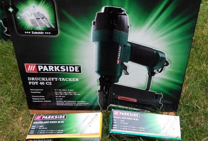 PARKSIDE Compressor PKO 270 A1 with air tacker+ staples