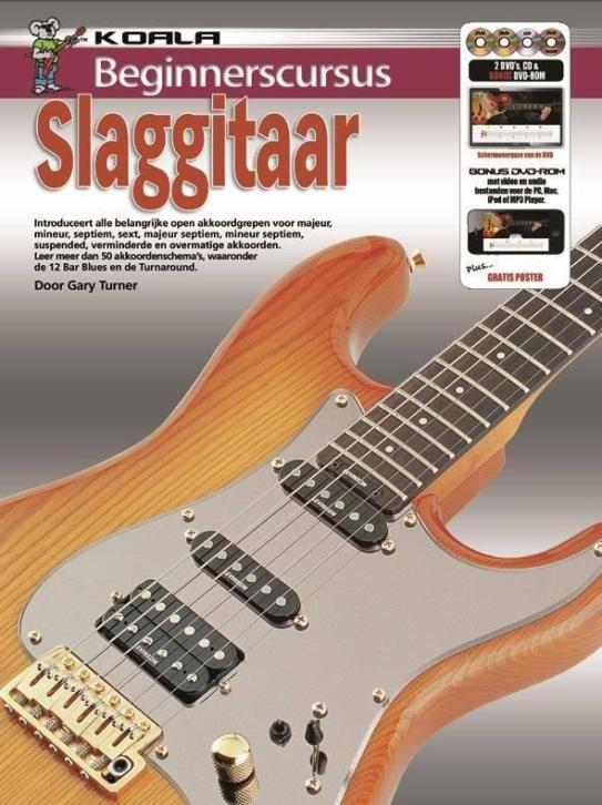 Beginnerscursus Slaggitaar | Boek + CD + DVD