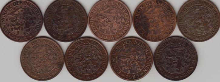 lot 2-1/2 cent 1912 t/m 1941 compleet