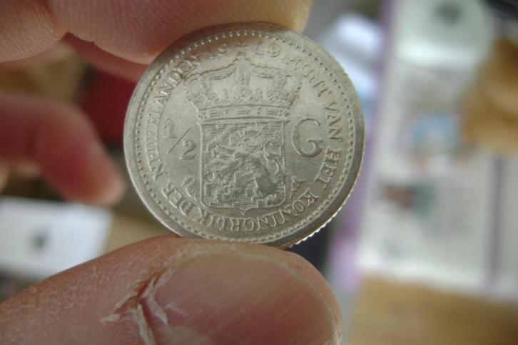 Nederland: 1/2 gulden 1919 In UNC
