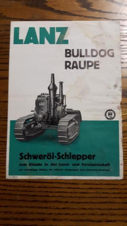 lanz bulldog 38ps raupe folder vooroorlogs