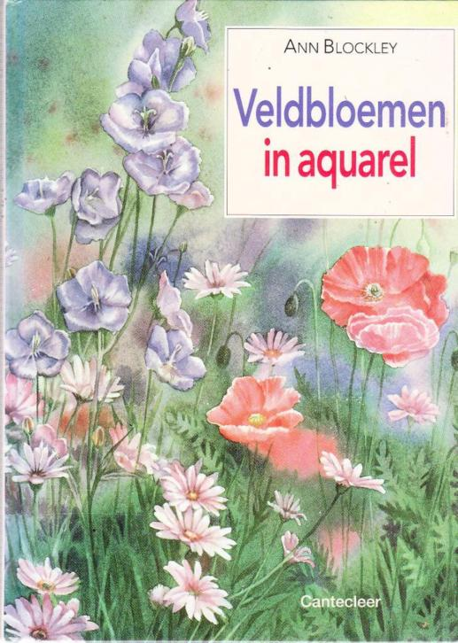 Veldbloemen in aquarel door Ann Blockley