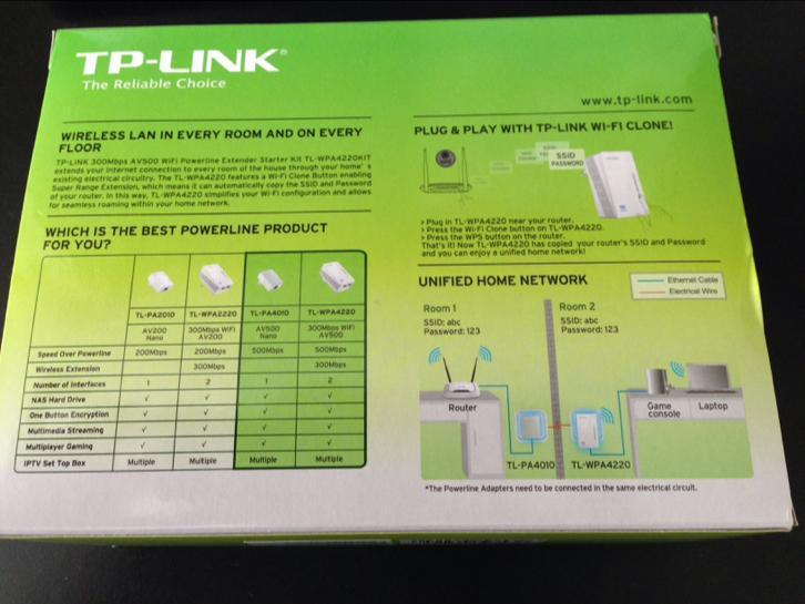 TP-Link Powerline WiFi Extender