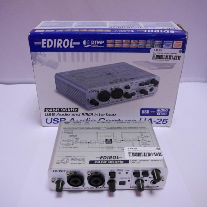 Edirol USB Midi interface Compleet in doos