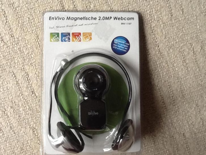 Magnetische Webcam plus headset EnVivo 2.0 MP