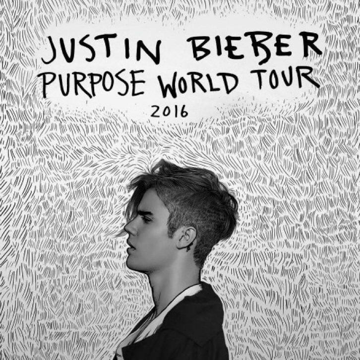 Justin bieber PURPOSE tour ticket - zondag 9 oktober