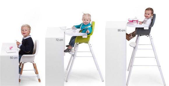 Kinderstoel Childhome Evolu2 Naturel/Wit 2-in-1