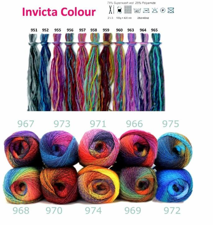Scheepjes Invicta color 100gr 8 bollen
