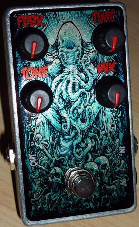 Custom effect pedals: Delay, Reverb, Overdrive
