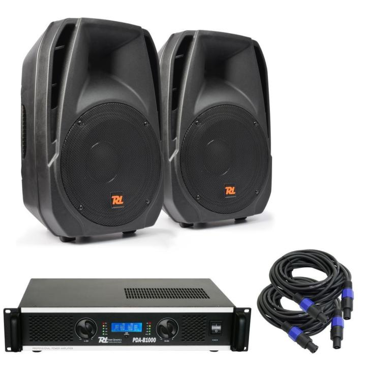 Power Dynamics PDA-12 Speaker set 2400 Watt