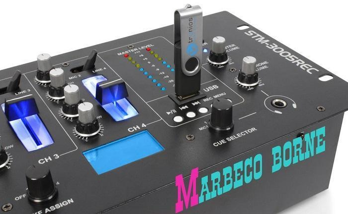 Mengpaneel,Mixer Record,4-kanaals,USB,MP3 STM-3005REC B-verp