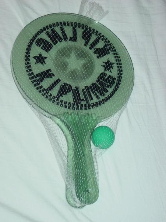 Badmintonrackets, set met bal
