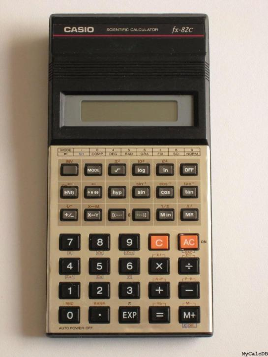 Casio calculator vintage