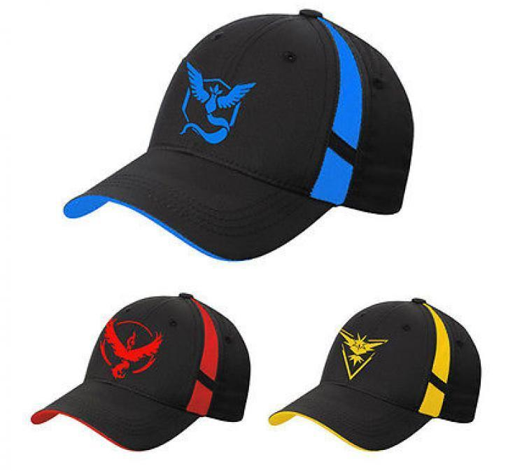 Pokemon Go team petten Valor Instinct Mystic