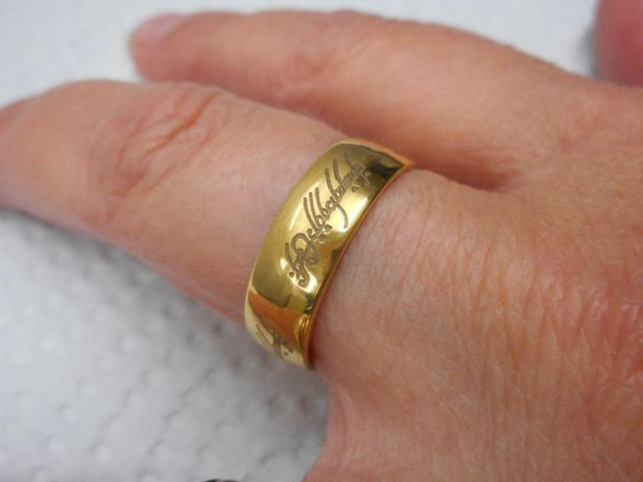 Goudkleurige ring van Lord of the Rings nr.1127