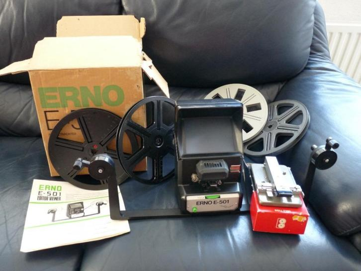 Erno E-501 8mm editor/viewer met Fujica Single 8 Splicer
